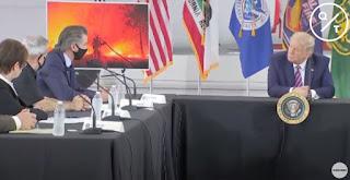 Trump & Gavin Newsom at CalFire