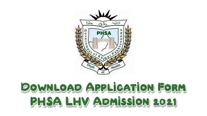 Get PHSA LHV Application Form Admission 2021