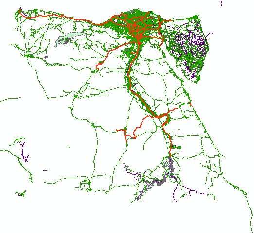 شيب فايل مصر - خريطة مصر- الخريطة الرقمية لمصر