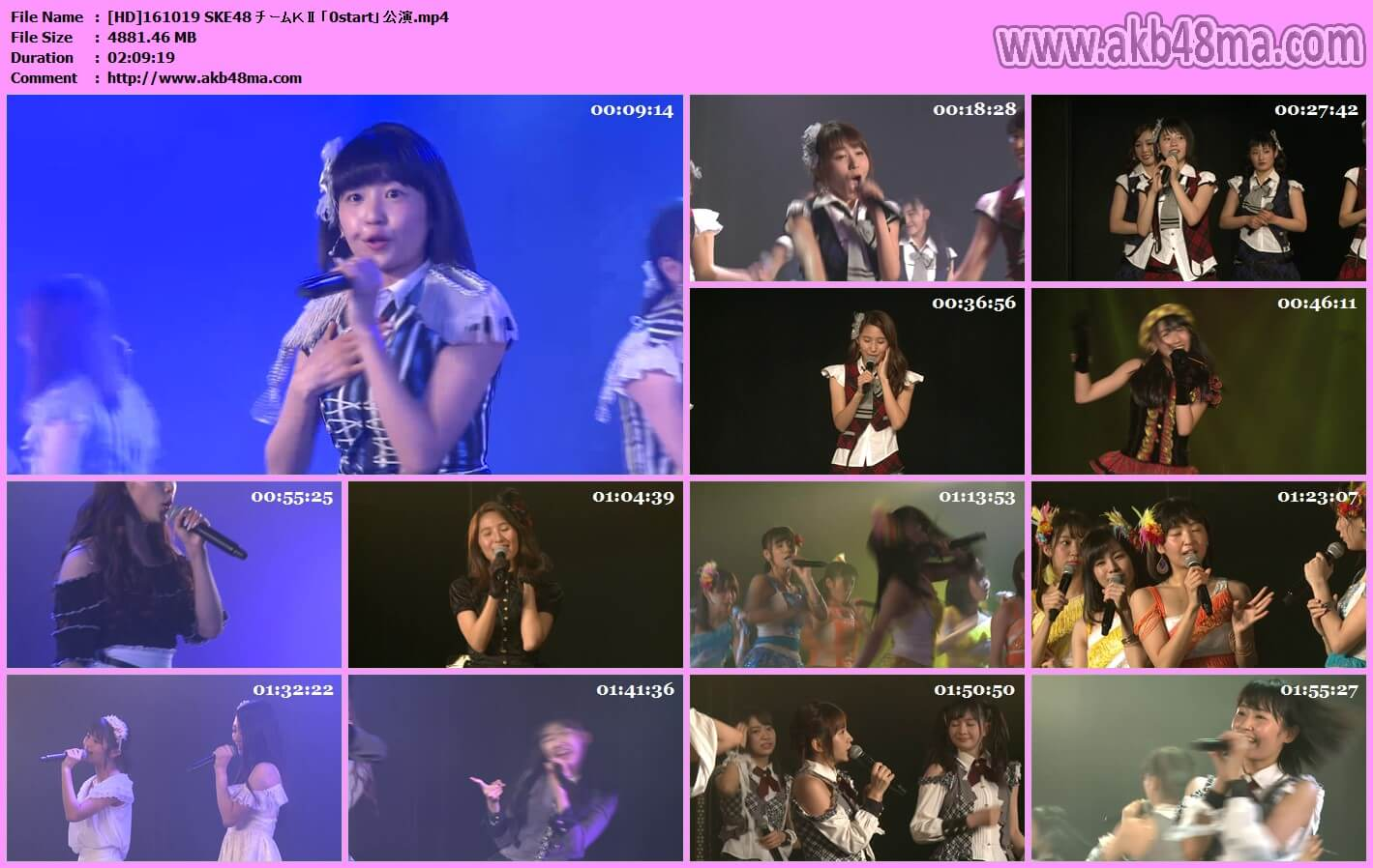 【公演配信】161019 SKE48 チームKⅡ「0start」公演