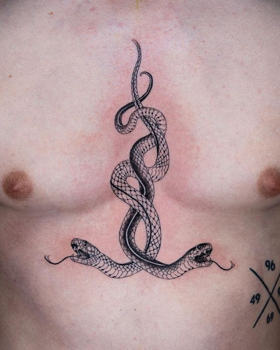 Snake Chest Tattoo
