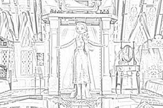 Frozen II Arendelle Castle Playset coloring pages coloring.filminspector.com