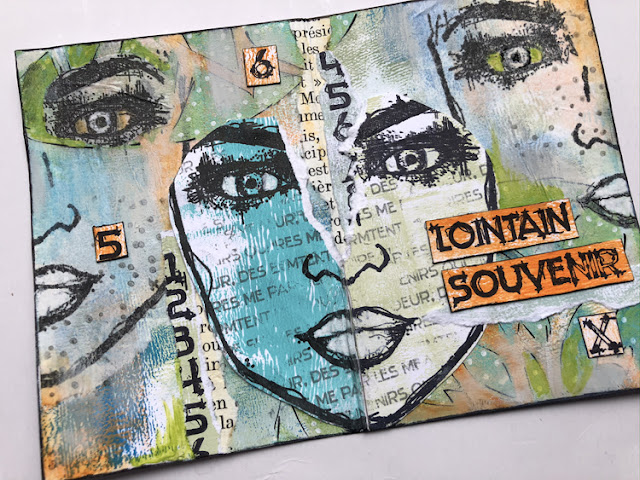 PaperArtsy FP002 Collage by Nikki Acton