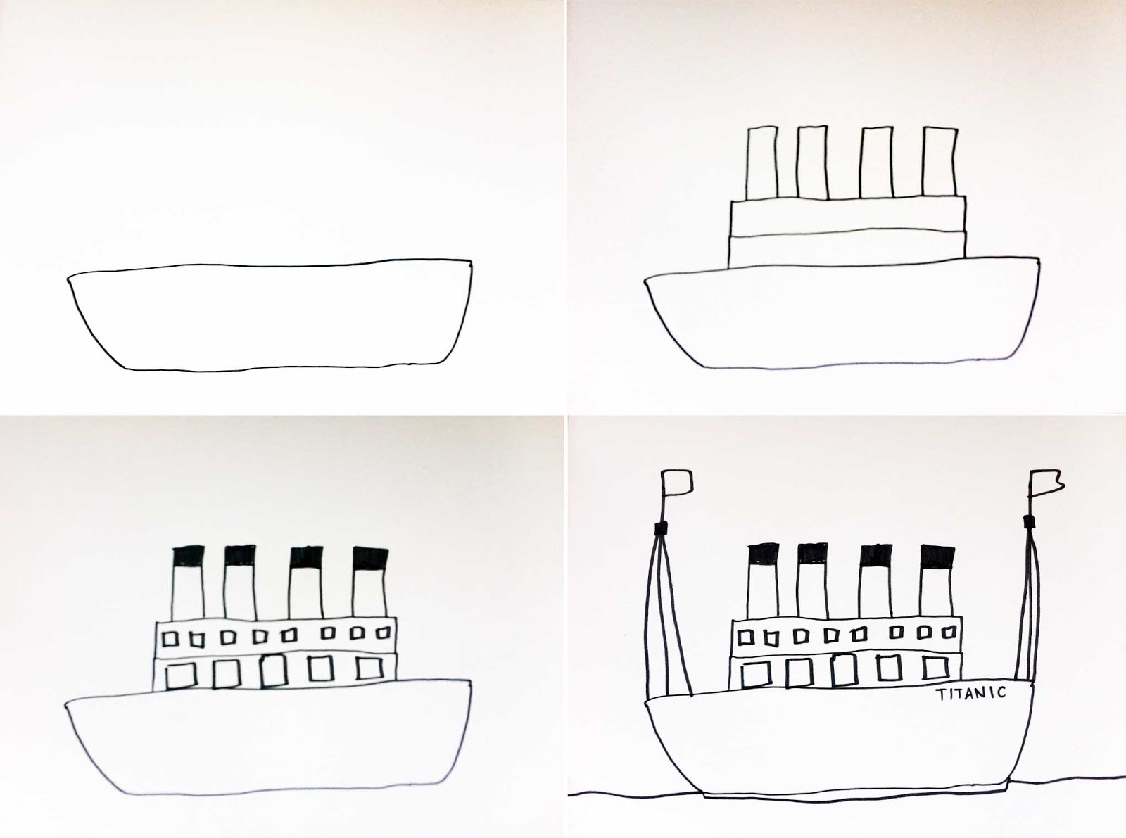 here s a photo how to for these simple titanic boats  [ 1600 x 1191 Pixel ]