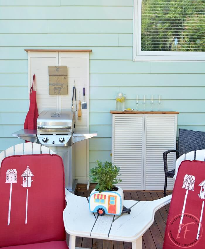 Outdoor DIY Projects From Repurposed Shutter Doors
