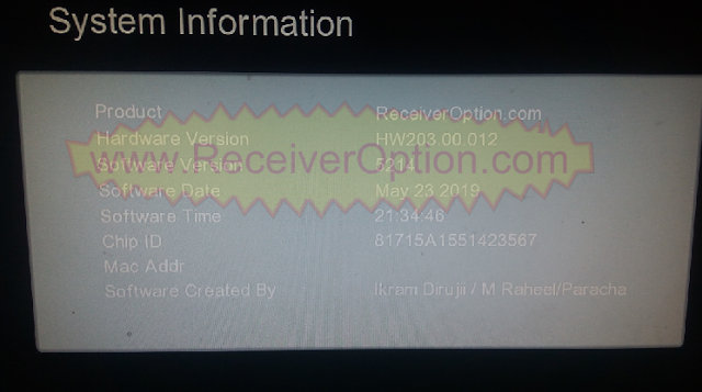 GX6605S HW203.00.012 TYPE HD RECEIVER TEN SPORTS OK NEW SOFTWARE