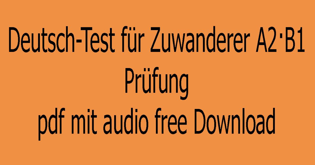 Prüfung a1 deutsch test pdf