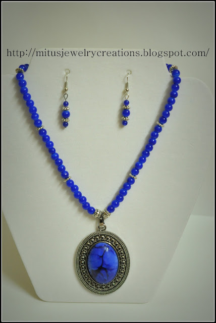 Royal Blue necklace with pendant