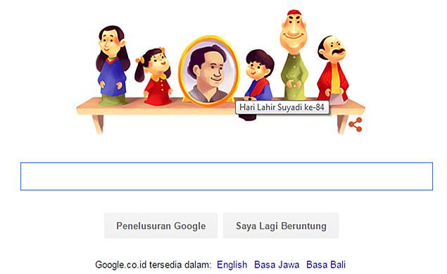 Google Doodle Ulang Tahun Suyadi Pencipta Film Si Unyil