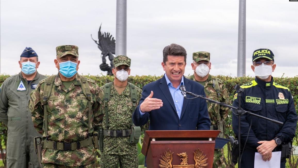 Declaración del Ministro de Defensa de Colombia, Diego Molano, sobre el fallecimiento de alias 'Fabián' / MINISTERIO DE DEFENSA COLOMBIA