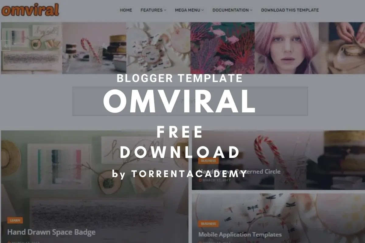 OmViral blogger template home page