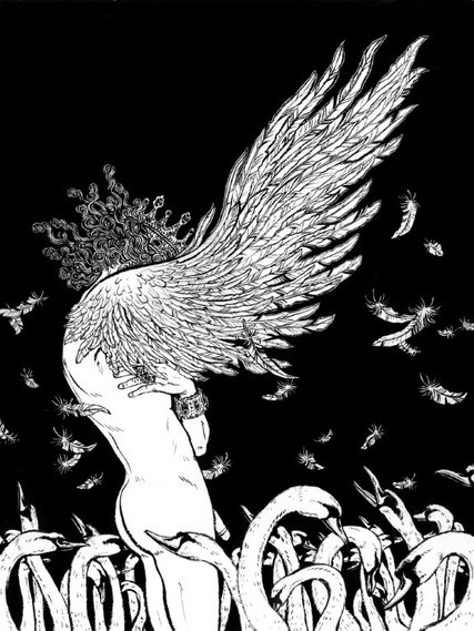 dzikie łabędzie, przemiana, Andersen, Baśnie na warsztacie, Mateusz Świstak, ilustracje baśni,