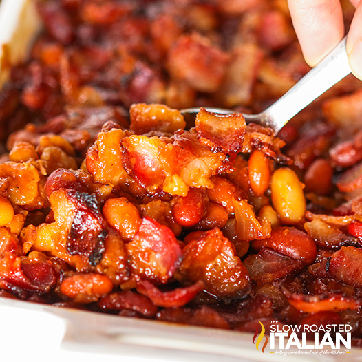 BBQ Oven Baked Beans with Bacon