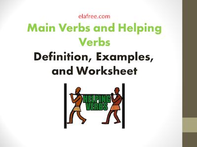 Main Verbs and Helping Verbs