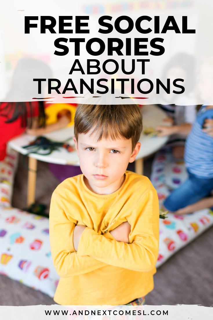 Free social stories about transitions and change