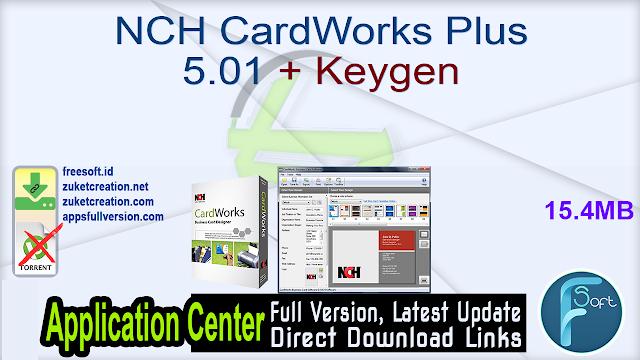 NCH CardWorks Plus 5.01 + Keygen