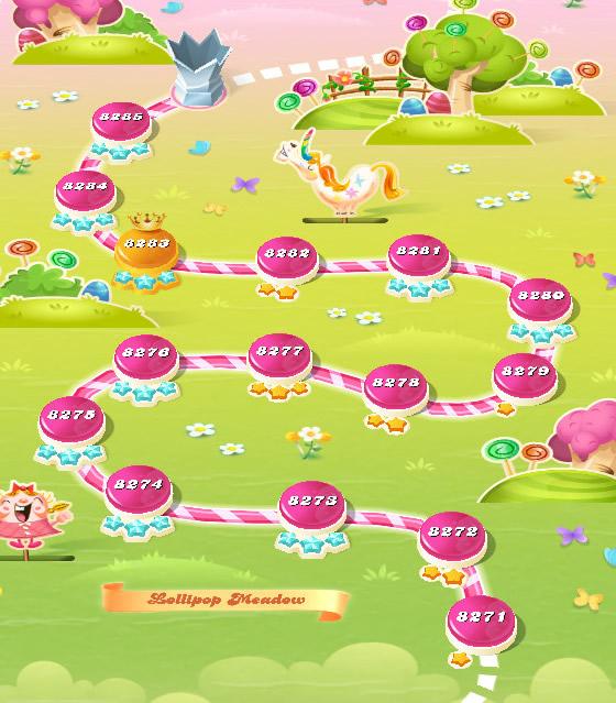 Candy Crush Saga level 8271-8285