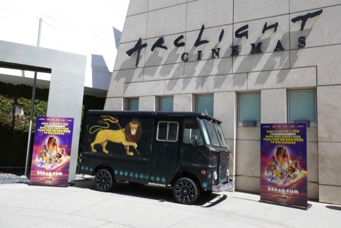 Beach Bum movie truck ArcLight Hollywood