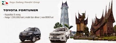 KGM Rental Fortuner di Padang
