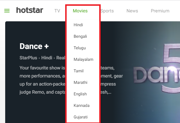 hotstar on laptop