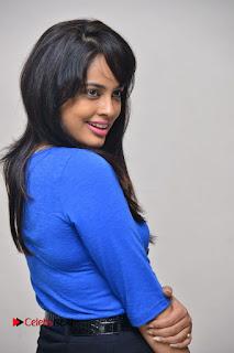 Actress Nandita Swetha Stills in Black Mini Skirt at Ekkadiki Potavu Chinnavada Movie Special Show  0035.JPG