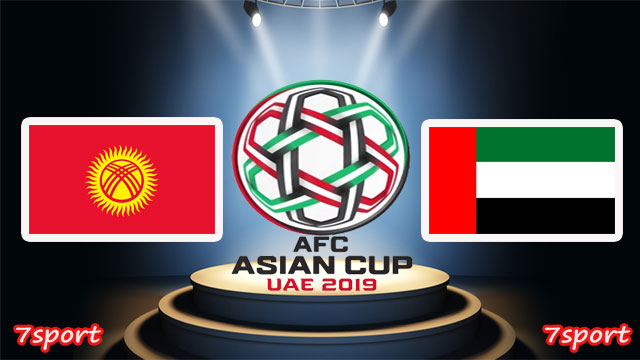 موعدنا مع مباراة الامارات وقيرغيزستان  بتاريخ 21/01/2019  كاس اسيا