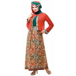 Baju Muslim Gamis Terbaru Kombinasi Brokat Gamis Modern