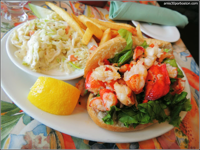 Lobster Roll en el Restaurante Gloucester House