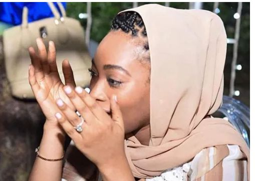 Kano State Gov's Daughter, Fatima gushes over her husband as she posts photos from the day he proposed to her
