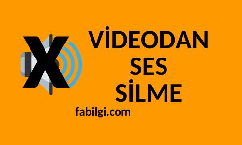 Videodan Online Olarak Ses Silme Yöntemi Süper Site Tanıtım