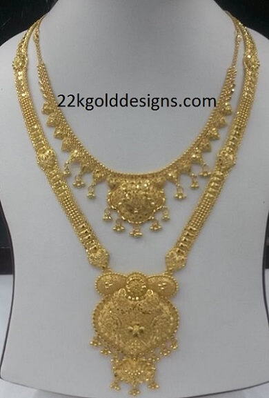 Plain Gold Necklace And Long Chain 22kgolddesigns
