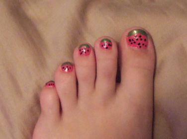 Watermelon Toes