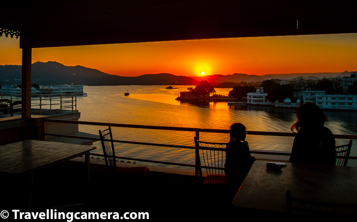 8. Raj Niwas is one of the best places to witness Udaipur Sunset with Lake Pichola in foreground. Above photograph is clicked from terrace of Raj Niwas. We shall share a separate blogpost with photographs of sunsets from Udaipur.