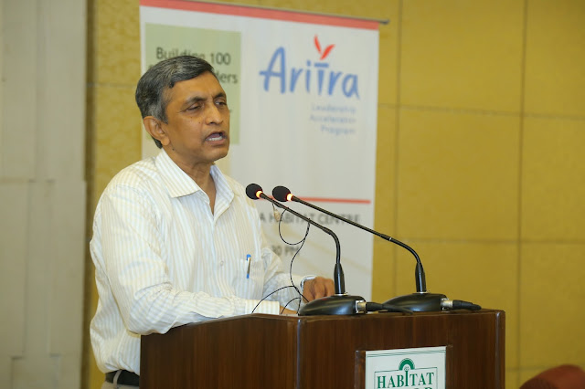 Picture 2: Dr. Jayaprakash Narayan addressing the august crowd of NGO & Corporate leaders