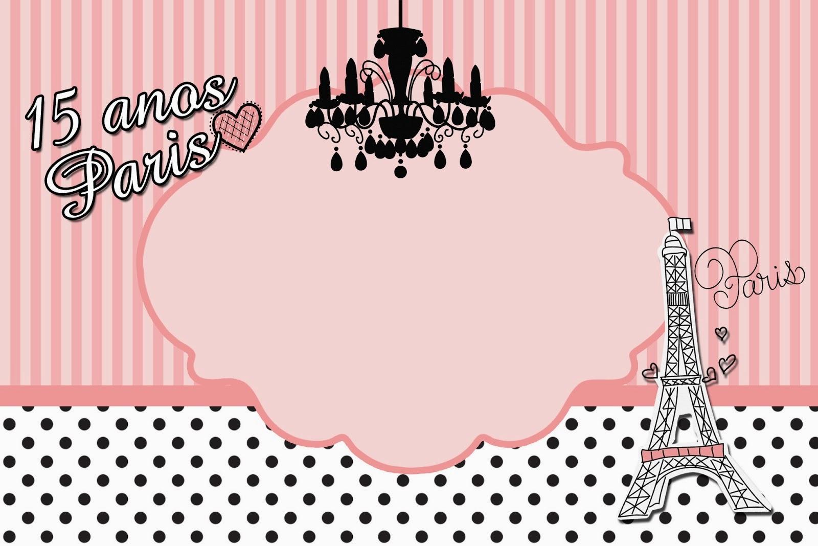 15 Años París: Tarjetas o Invitaciones para Imprimir Gratis. | Ideas ...