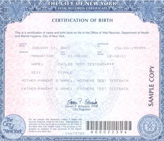 كيفية استخراج شهادة ميلاد للمولود الجديد في امريكا