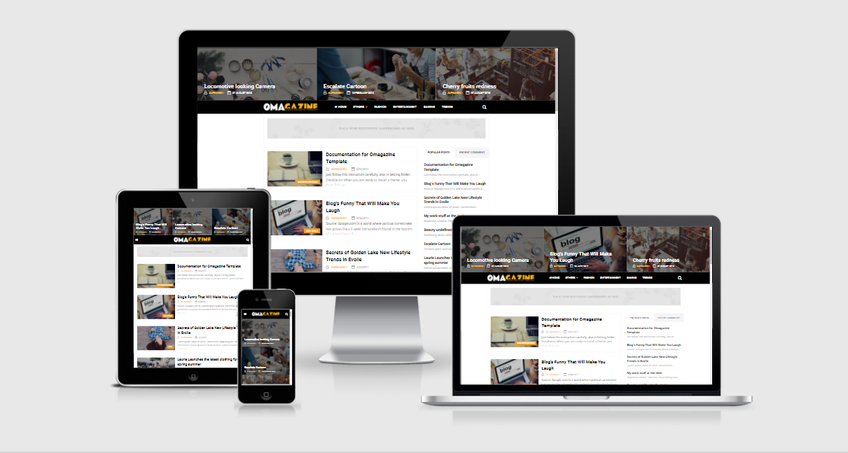 Omagazine - Responsive Personal Blogger Template