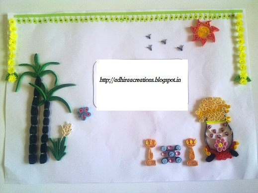 Adhiraacreations my quilled pongal greetings my quilled pongal greetings m4hsunfo