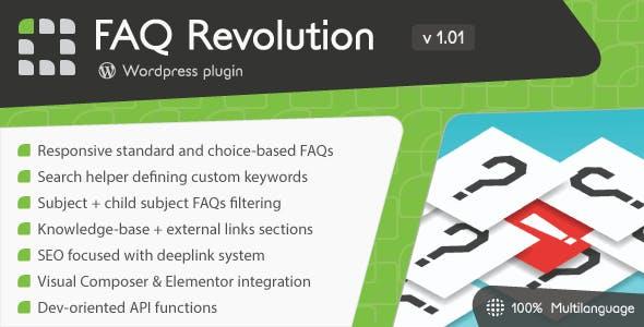 FAQ Revolution v1.04 WordPress Plugin