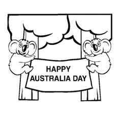 Happy Australia Day Coloring Pages