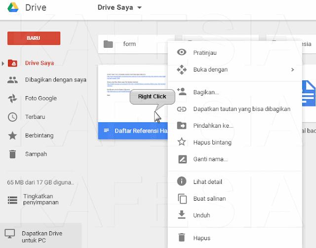 pengelolaan file di google drive