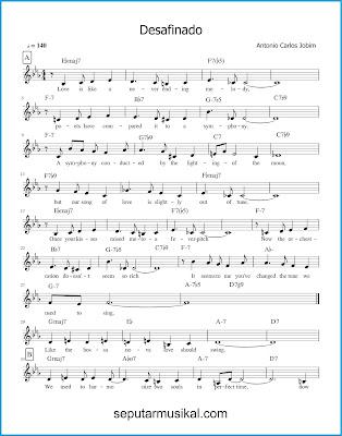 Desafinado ( Slightly Out of Tune ) 1 chords jazz standar