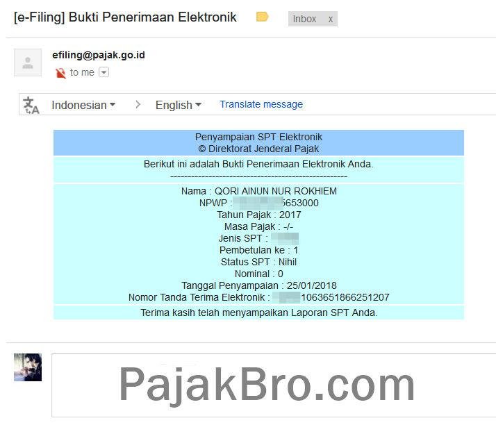 Cetak Ulang Bukti Lapor Pajak (BPS/BPE) DJP Online