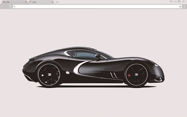 Black Bugatti Google Chrome Theme
