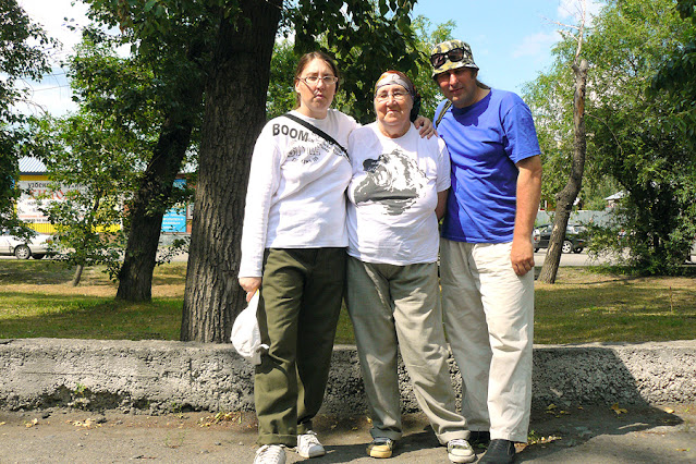Writer Ganova Ludmila with children Poet Ket Gun & Artist Tsurikov Ilya