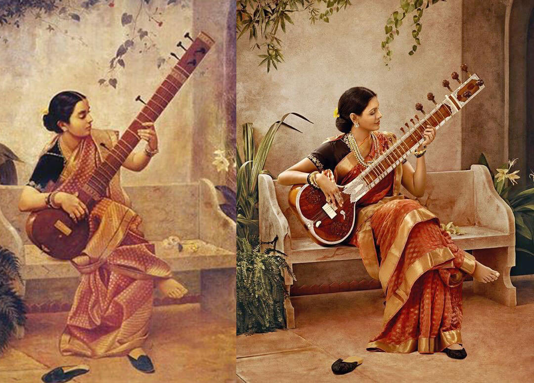 South actresses recreating iconic Raja Ravi Varma paintings for 2020 Calendar. Check out HD pictures! 13