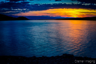 Cramer Imaging's quality landscape photograph of Mackay Reservoir Lake at sunset in Idaho