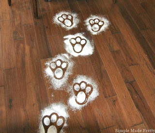 Leaving a trail of bunny footprints is a great easter family tradition to start.