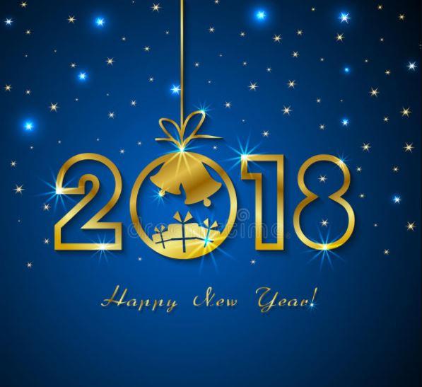 gelukkig nieuwjaar met gouden aantallen
