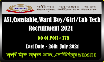BSF Air Wing  Recruitment 2021 - ASI,Constable and Medical Staff Vacancy